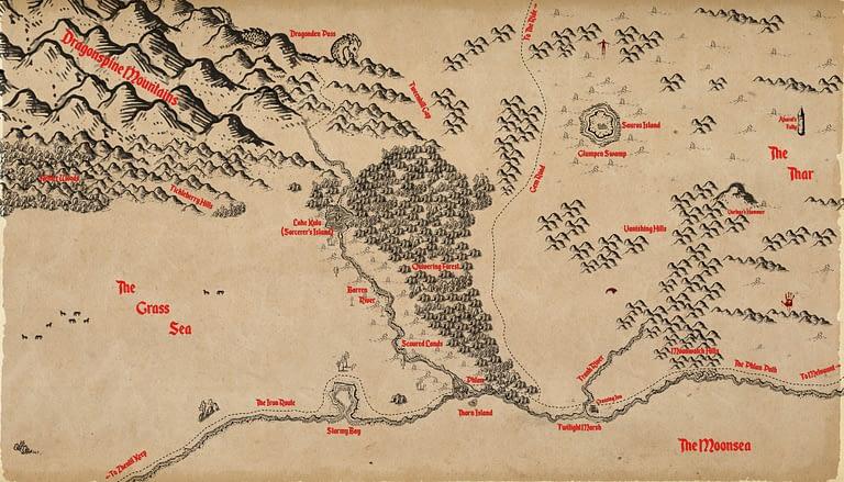 Moonsea Region Map