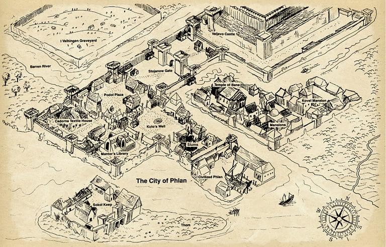 Map of Phlan
